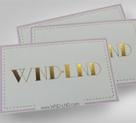 Diecut Business Card