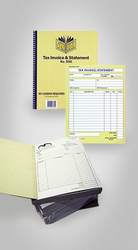 A4 Invoice Book Printing